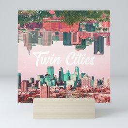 Twin Cities Minneapolis and Saint Paul Minnesota Collage Mini Art Print