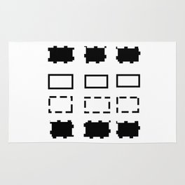 Pattern in black and white Rug
