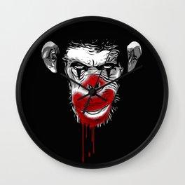 Evil Monkey Clown Wall Clock