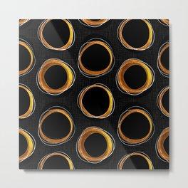Solar Eclipse MCM Gold-Black Metal Print