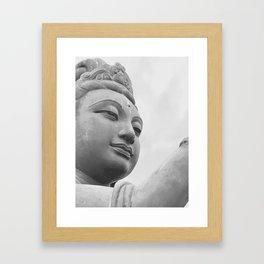 Buddha Face Framed Art Print