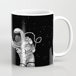 Astronaut in the outer space Coffee Mug