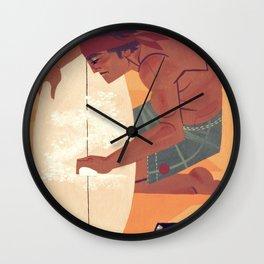 Wax it up Wall Clock