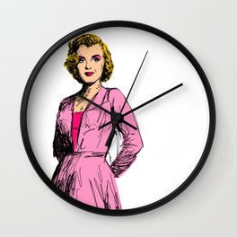 Marilyn In Pink Wall Clock