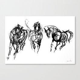 Horses (Trio) Canvas Print