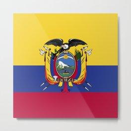 Ecuador flag emblem Metal Print