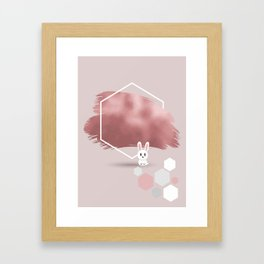 Pixel Rabbit Framed Art Print