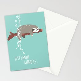 Sloth card - just 5 more minutes Stationery Cards