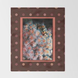 Coral Polyps Throw Blanket