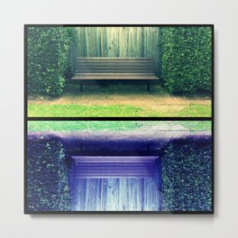 Park Benches Metal Print