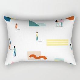 Fridays at the Art Gallery Rectangular Pillow