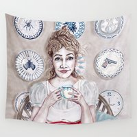 sia Wall Tapestries featuring Madam Porcelain by Sia Ritar
