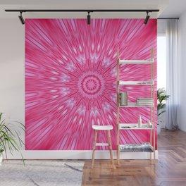Pink Mandala Explosion Wall Mural