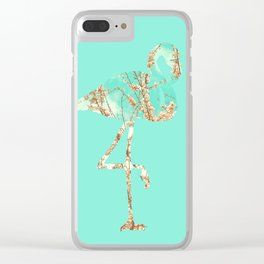 Flamingo Spring Clear iPhone Case