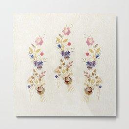 Pressed Flowers by Kathy Morton Stanion Metal Print