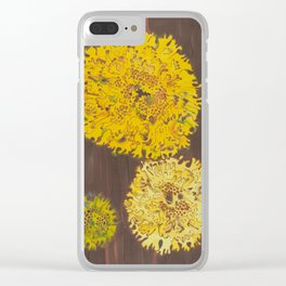 lichen in yew tree Clear iPhone Case