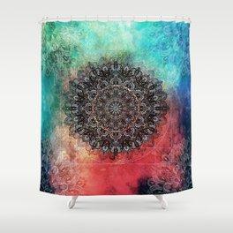 Higher Cosmic Vibrations Mandala Shower Curtain