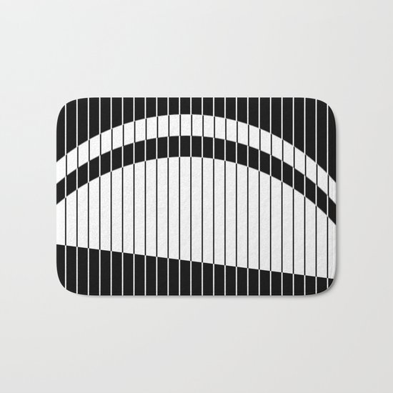 Colour Blind (Abstract, minimalistic black and white) Bath Mat
