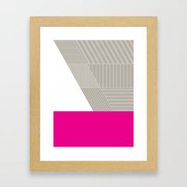 Minimal Triangles Magenta Framed Art Print