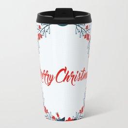 Merry christmas greeting Travel Mug