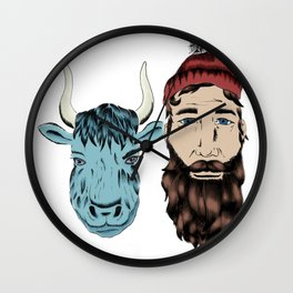 Paul and Babe Wall Clock