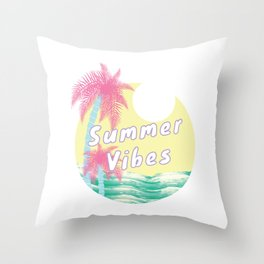 Summer Vibes Throw Pillow