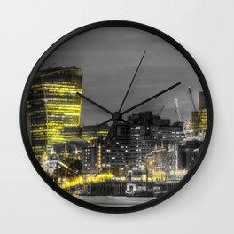 City of London At Night Wall Clock