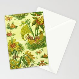Chartreuse Chinoiserie Stationery Cards