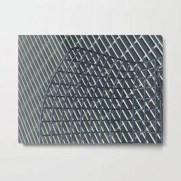 Urban grid Metal Print