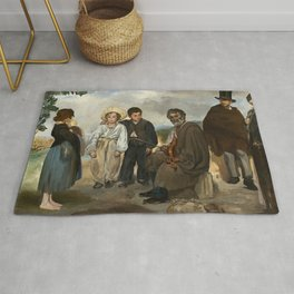 Edouard Manet The Old Musician 1862 Painting Rug