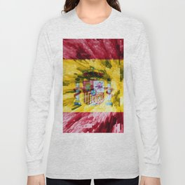 Extruded Flag of Spain Long Sleeve T-shirt