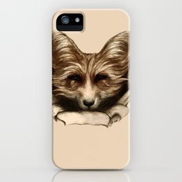 Hallo Fuchs! Mixed Media Art iPhone Case