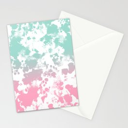 Margot - abstract painting mint and pink pastel trendy girly home decor dorm college gifts Stationery Cards