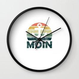 Moin Moin North Germany Anchor North North Sea Wall Clock