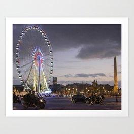 Wheel Concorde Paris Art Print