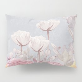 Floral Spring Greatings - Pastel Flowers Pillow Sham