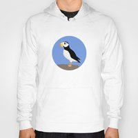puffin Hoodies featuring Horned Puffin by Renata Grieco