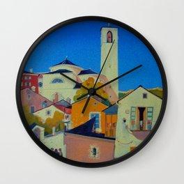Vintage Tessin Switzerland Travel Wall Clock