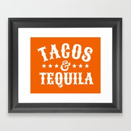 Tacos & Tequila (Orange) Framed Art Print