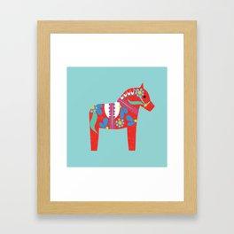 swedish horse Framed Art Print
