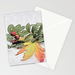 autumn feelings Stationery Cards