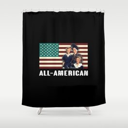 All-American Female Workers Shower Curtain