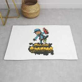 Lab No. 4 - Subway Surfers Game will take your craziness Inspirational Quotes Poster Rug