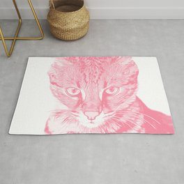 savannah cat portrait vapw Rug
