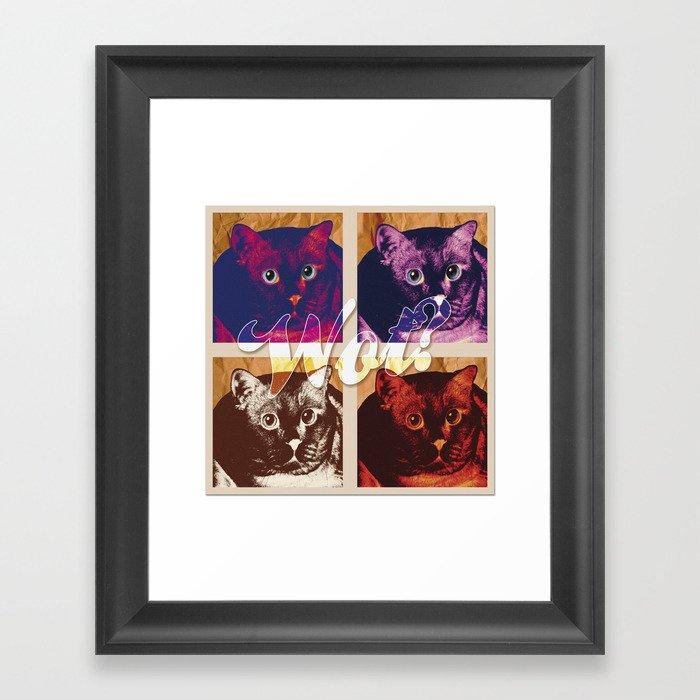WOT? Framed Art Print