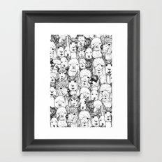 just alpacas black white Framed Art Print
