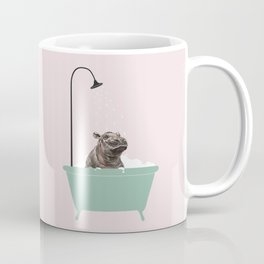 Hippo Enjoying Bubble Bath Coffee Mug