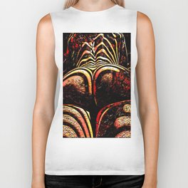 2574s-RES Abstract Nude Ass Butt Bum Tush Painting Biker Tank