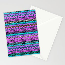 African No1 Blue pattern Stationery Cards
