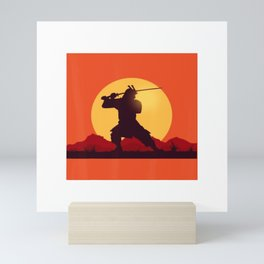 Graphic Samurai T-Shirt Mini Art Print